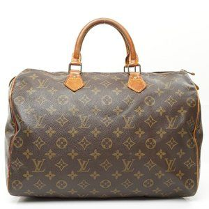 Auth Louis Vuitton Speedy 35 Satchel #6773L25